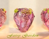 "Hollow bead pendant  ""Fairy Garden,  Spring"""