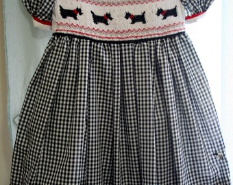 Girl's Heirloom Hand-Smocked Square Yoke Dress