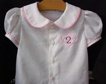 Child's Shirt with Peter Pan Collar