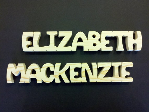 9 letter personalized wooden names