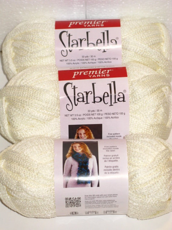 Starbella Cream by Premier Yarns Ruffle / Flounce Yarn 1 skein