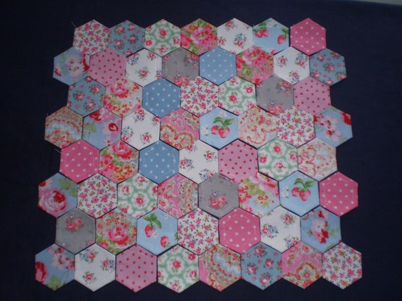 60 CATH KIDSTON fabric covered hexagons for patchwork