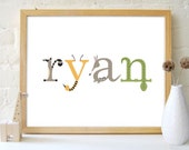 20% OFF // Baby Animal Name & Birthdate CUSTOM PRINT - ryan