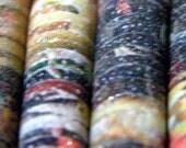 Paper Beads Set of 6 Handmade Designer Magazine Beads: Quinn Qualls