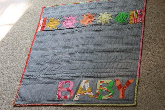 ON SALE / Modern BABY quilt