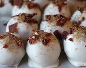 Bacon & White Chocolate Cake Truffles (1 Dozen)--Made-to-Order/Gourmet Cake Balls/Cake Pops/Mini Desserts