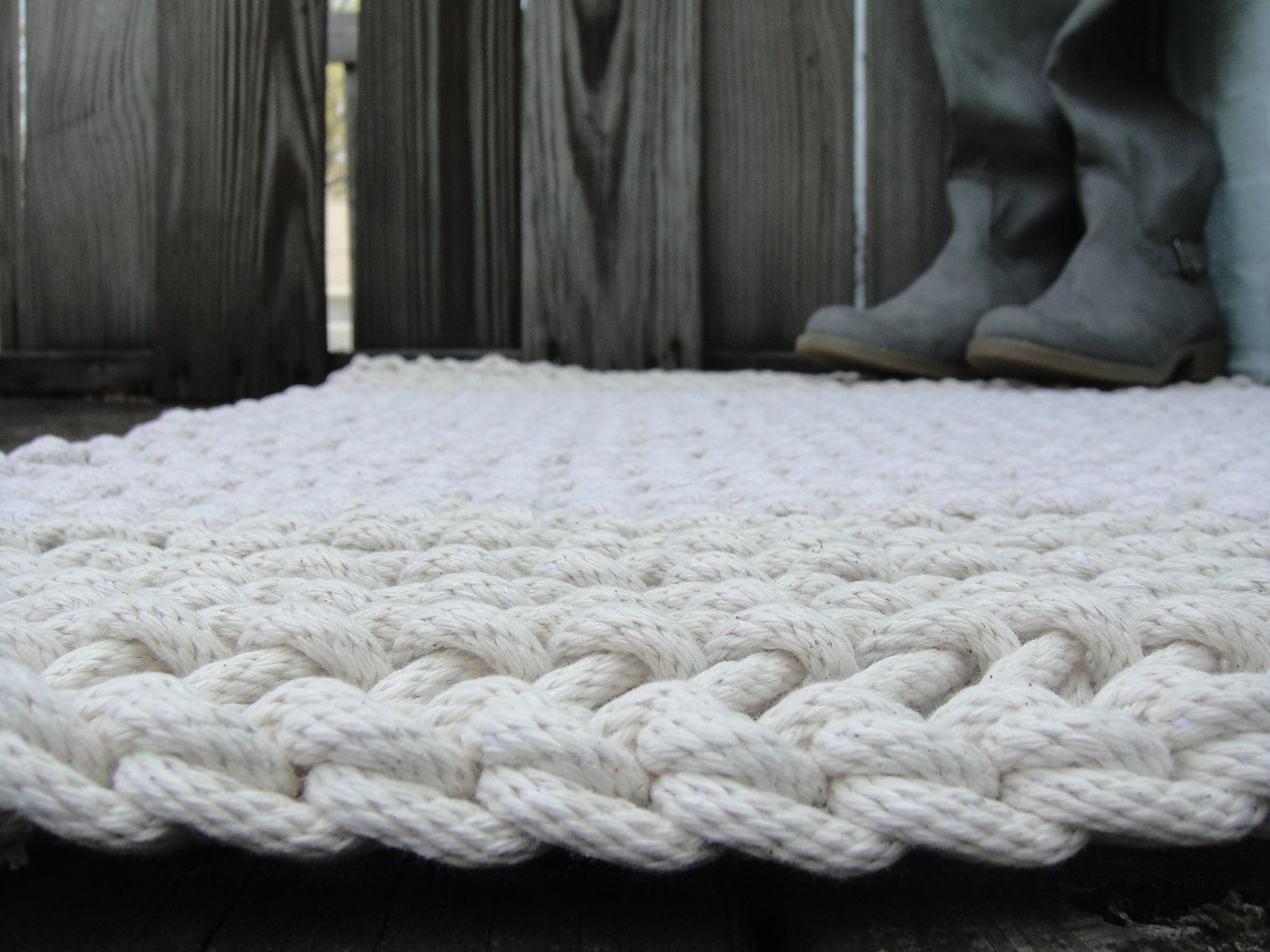10 00 Off Hand Knit Rope Rug