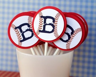 Take me out to the Baseball Game Cupcake Toppers