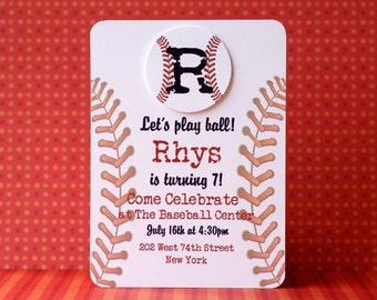 Custom Play Ball Baseball Invitations