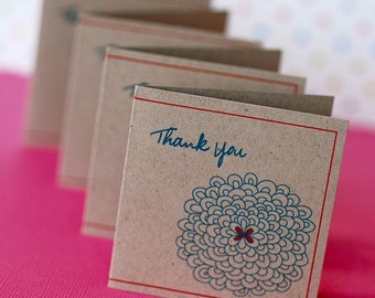 Mini Thank You Cards Personalized - You choose amount