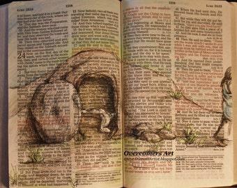 He Is Risen - Beautiful Easter Bible Art