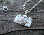 Photographer's Necklace --Silver Plated Charm and Nickle/Lead Free Silver Chain