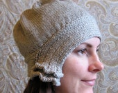 Gray Knit Cloche Hat