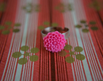 Bright Pink Chrysanthemum Ring