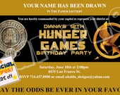 The Hunger Games Birthday Invitation 4x6 Digital File