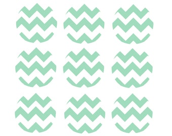 Custom Edible Image Cupcake Toppers - 2 inch cupcake/cookie chevron design