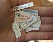 bag of 40 mix-and-match poetry tats temporary tattoos