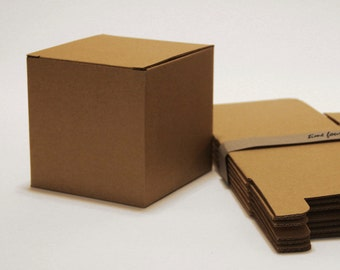 Set of 20, Kraft Larger Gift Box, Cube, Good for any occasion