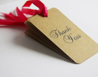 Set of 50,  Thank You Gift Tags