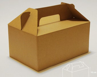 Set of 3, Larger Kraft Gift Box, Cake Box,  Favor, Gift, Party
