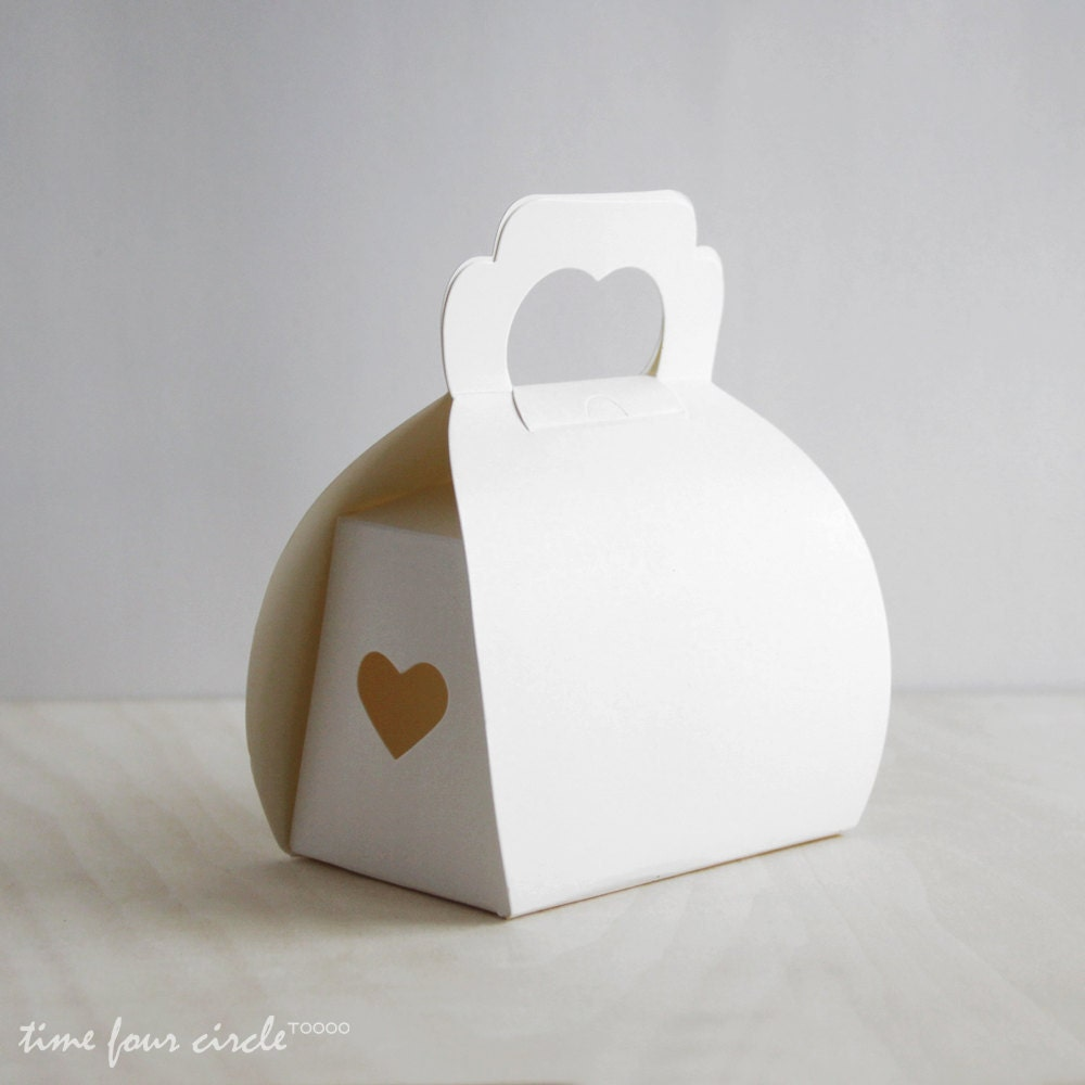 Etsy Cake Favor Boxes : Set of white cake box gift favor party