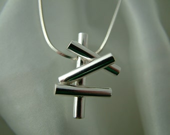 Sterling silver 'pipedreams' pendant