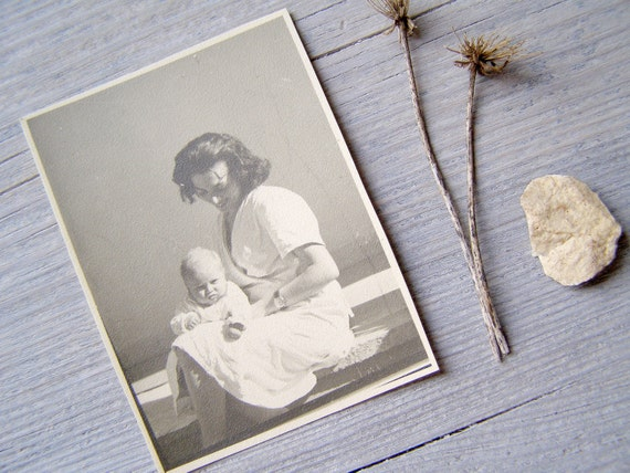 Mother and new born, Vintage Israel early years photo
