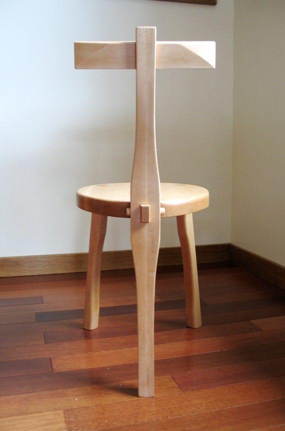 Items Similar To 3 Legged Wood Chair Guitar Stool