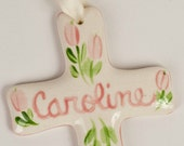 Small Personalized Floral Cross