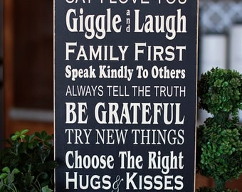 Dream Big Family Rules Subway Art - vinyl lettering only