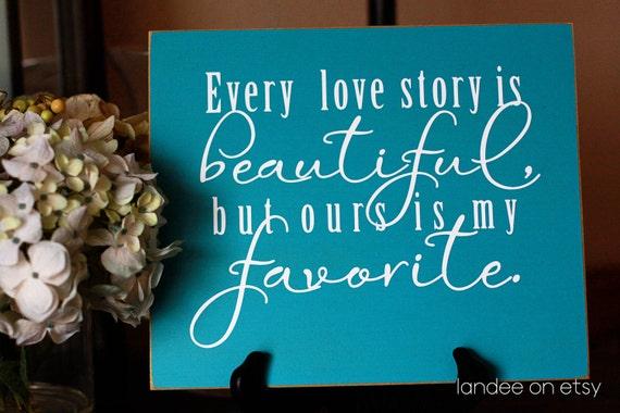 Love Story 10x12 Wooden Vinyl Sign