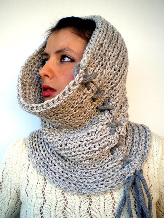 XXX   Fashion   Cowl Super Soft Wool Neckwarmer Unisex Fashion Cowl Chunky Texture Cowlneck