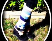 Upcycled Striped Leg Warmers