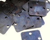 20 Small Square Blanks - 4 hole - Vintaj Arte Metal OS