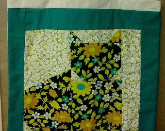 """Tote bag with elements of patchwork - """"Cat"""""""