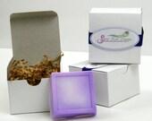 Purple Orange Scented Single Aloe Vera and Glycerin Soap