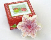 Peppermint Scented Snowflake Goats Milk Soap in Christmas Ornament Gift Box