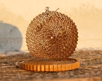 Circle Recycled Paper Earrings