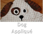 Crochet Pattern - Dog Face Applique (for Hooded Baby Towel and So Much More) - Immediate PDF Download
