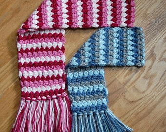 Crochet Pattern - Mod Scarf (3 sizes: toddler, child, teen/adult) - Immediate PDF Download