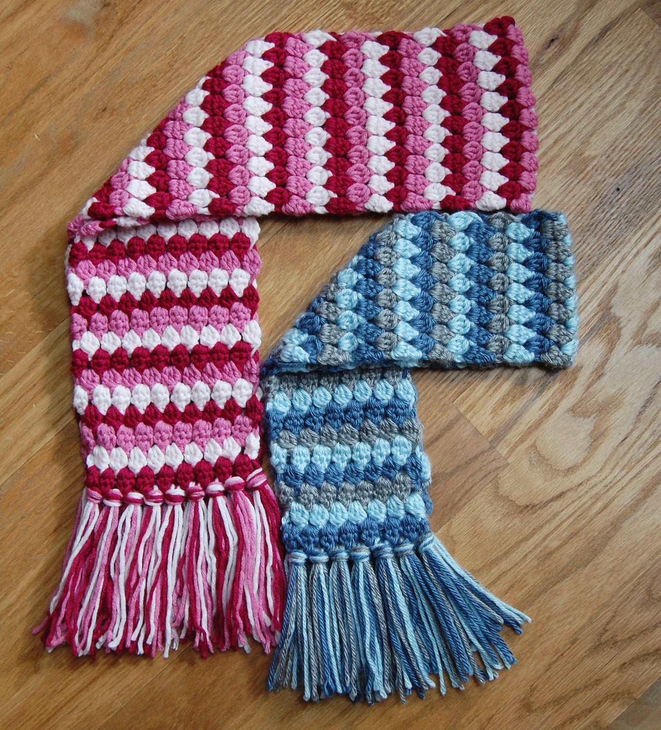 Crochet Pattern Mod Scarf 3 sizes: toddler child