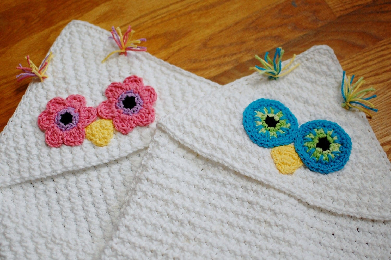 Crochet Pattern Owl Baby : Crochet Pattern Owl Hooded Baby Towel also makes a great
