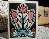 Floral Polish Style Papercut: Card