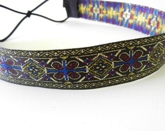 Blue and Gold Tapestry Headband