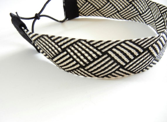 Thick Black and White Abstract Headband