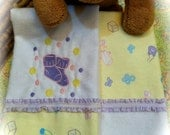 Burp Cloths - Flannel - Baby Socks - Matching Applique  Personalized - Set of 2