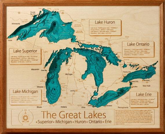 Great Lakes 16x20 3D Wall Art