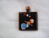 Science and Astronomy Square Pendants