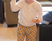 Preppy plaid ruffle pants
