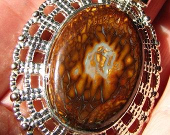 Stunning Koroit Boulder Opal Pendant
